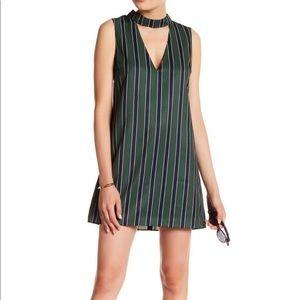 English Factory WOMEN'S Mock Neck Striped Dress